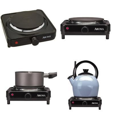 Aroma Portable Single Hot Plate Electric Burner Food Cooker Cooking Buffet  Camp