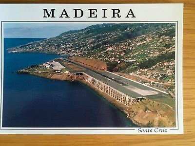 TWO Madeira New postcards old Cruise ships in Porto Do Funchal & Ronaldo Airport