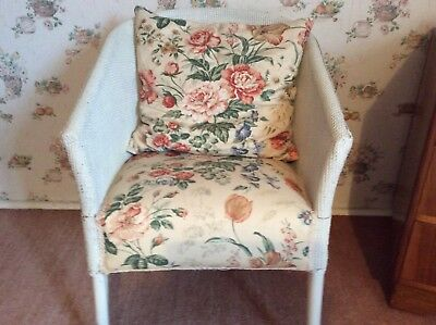 Lloyd Loom Chair With Reupholstered Seat Cushion
