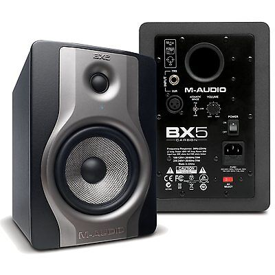 "M-Audio Bx5 Carbon 5"" Active Studio Monitor Powered Speakers (Pair) Rrp $449"