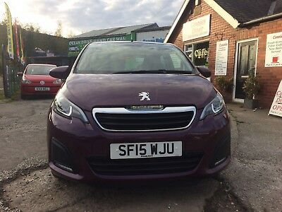 2015 Peugeot 108 1.0 Active 5dr VERY LOW MILES 8,846K