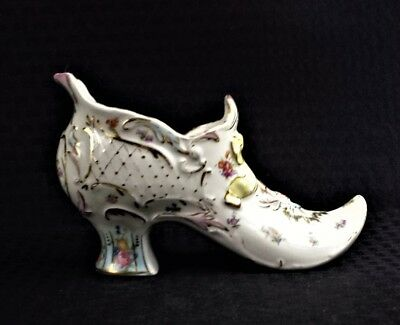 Vintage Collectible Lefton China Hand Decorated  Ladies Shoe