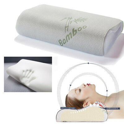 Luxury Bamboo Pillow Anti Bacterial Memory Foam Fabric Cover support neck head