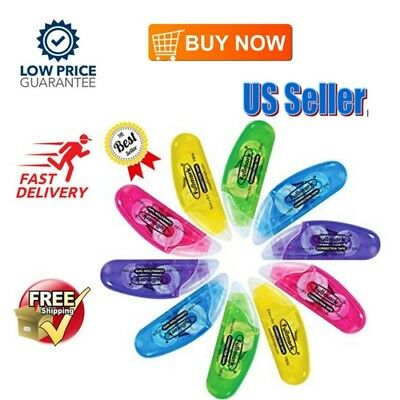 NEW 10 PCs Compact Correction Tape White Out Break Proof Office School Paper US