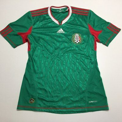 7e7f965b8 Mexico National Team Adidas Climacool Soccer Jersey S Green Futbol Mens 7952