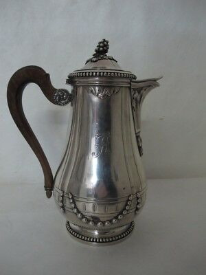 Brilliant French Puiforcat Sterling Silver Tea Pot With Ornate Design