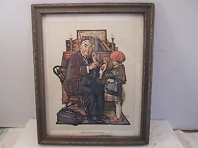 Art Deco frame, 8 by 10 inches ,  Rockwell's-The Doctor and the Doll, # 801
