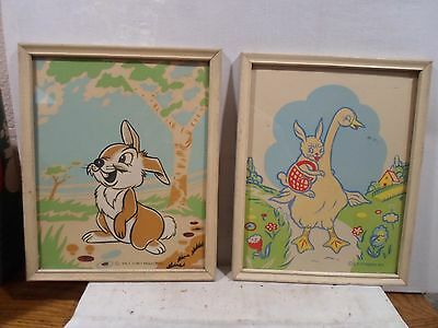 Set of 2 modern picture frame, Children's prints, Disney, 8  X 10 inches, # 1160