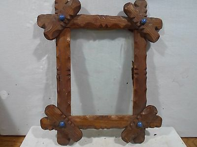 Adirondack or criss cross frame with blue porcelain  , 6 X 8 inches, # 1166  # 2
