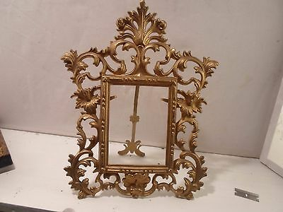 cast metal standing or hanging picture frame, 4.5  by 5.5 inches  # 1209