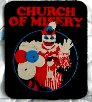 CHURCH OF MISERY woven patch Boris John Wayne Gacy Sonic Flower Coffins Nepenthe