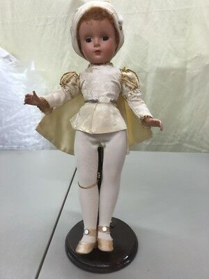 "Vintage Madame Alexander Prince Charming 14"" Doll Hard Plastic Sleep Eye N/r"