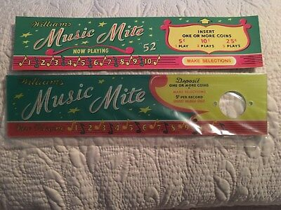 Rare Find - Reproduction Williams Music Mite Selection Display Top Piece