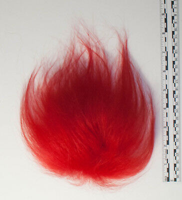 Troll Wig Doll Replacement Hair Mohair-Red Icelandic Sheepskin