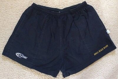 Avoca Beach Rugby Union Cotton Shorts - Mens Size 36 / XL - Classic