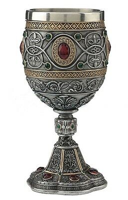 """7"""" Holy Grail Chalice Church Catholic Decor Drinking Cup Religious Jesus Christ"""