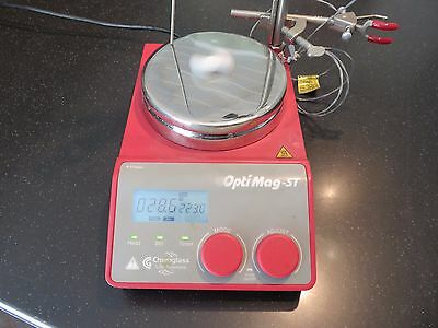 CHEMGLASS OPTI-MAG ST Hot Plate Magnetic Stirrer CG-1993-T-10 PROBE STAND strbar