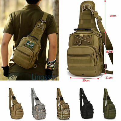 d2601393b Tactical Sling Military Backpack Pack Rover Small Shoulder Bag Molle Bike  Hiking