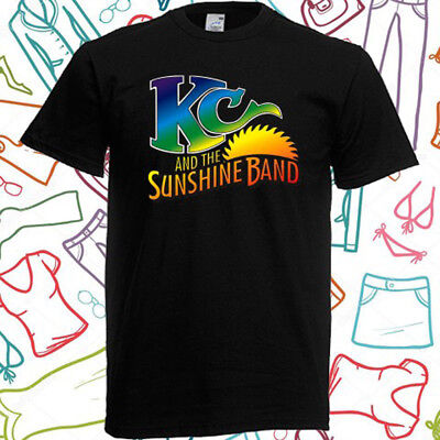 KC and The Sunshine Band Music Men/'s Black T-Shirt Size S to 3XL
