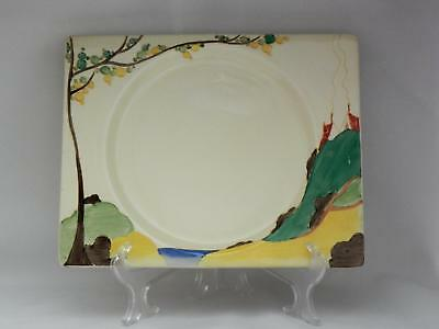 Early SIGNED Bizarre*CLARICE CLIFF* c1934 - *SECRETS* Biarritz LARGE Plate - VGC