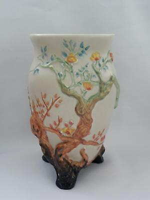 VINTAGE- CLARICE CLIFF My Garden **INDIAN TREE VASE** Lovely Condition