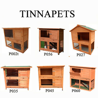Rabbit Hutch Two Storey Guinea Pig Cage Chicken Coop Chook House Ferret Hutch