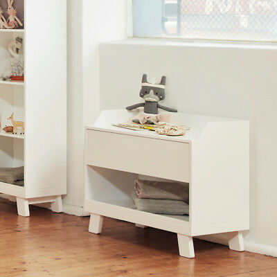 Bebecare Casa Toy Box Nursery Storage With Seat White