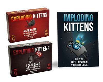 Exploding Kittens ORIGINAL / NSFW / IMPLODING KITTENS CARD GAME