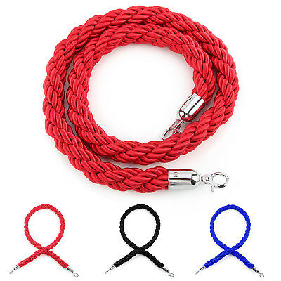 Twisted Barrier Rope Queue Twisted VIP Red for Posts Stands Exhibition