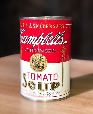 Campbell's 125th Anniversary Tomato Soup Can Coin Bank 1994 Mint