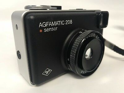 Vintage AGFA AGFAMATIC 208 Sensor Camera With Carry Case