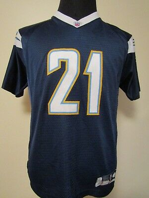 NFL San Diego/Los Angeles Chargers #21 YOUTH XL SEWN Gridiron Jersey by Reebok