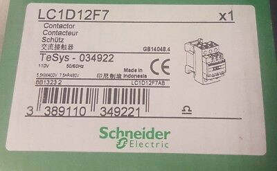 Tesys LC1D12F7  3 Pole Contactor, 3NO,12 A, 5.5 kW,110 V ac Coil, Screw Terminal