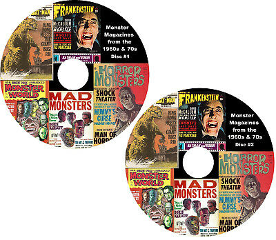 Monster and Horror Magazines from the 1960's & 70's on 2 DVDs 200 issues