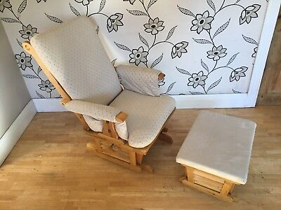 Dutailier Gliding Rocking Nursing Chair and footstool