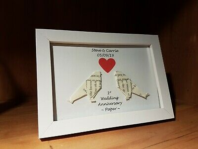 PAPER FIRST 1ST Wedding Anniversary Embroidered Toilet Roll ...