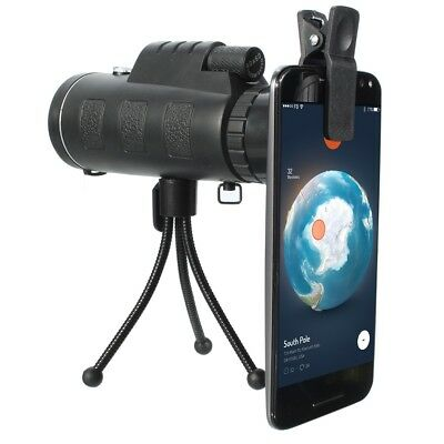 40x60 Outdoor Travel Portable Monocular HD Clear Vision Optic BAK4 Telescope