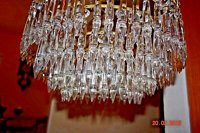 Antique French Crystal Chandelier Crystal Arrow Heads Stunning