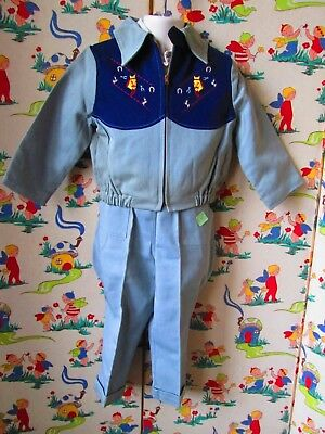 Original Vtg 50's NOS toddler 2 piece western playland sportswear suit Sz 4