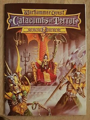 GW Warhammer Quest: Catacombs of Terror Expansion without Miniatures or Box