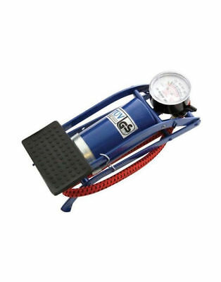 New Single Barrel Cylinder Air Inflator Foot Pump Car Van Bicycle Bike Tyre Pump