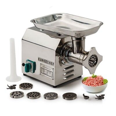 1.2HP Electric Meat Grinder Full Commercial Motor 304 Grade Stainless Steel
