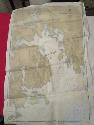 "1986 Nautical Chart Map of Frenchman Bay and Mount Desert Island Maine 31"" x 47"""