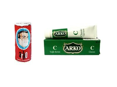 ARKO Shaving Soap Stick 75g Luxurious Lather + Arko Aftershave Cream Healing