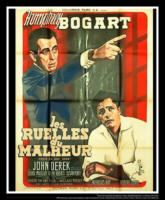 KNOCK ON ANY DOOR 1949 4x6 ft Vintage French Grande Movie Poster Original