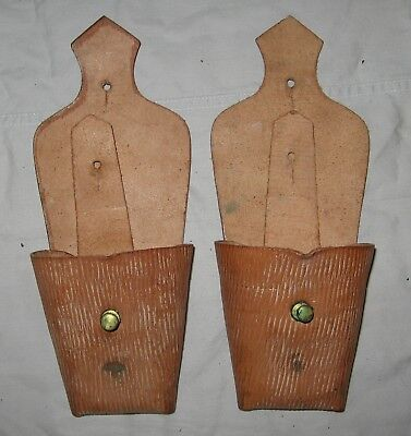 Pair Pattern 1903 Pockets Cartridge 10 Rd unissued. Leather pouch Light Horse