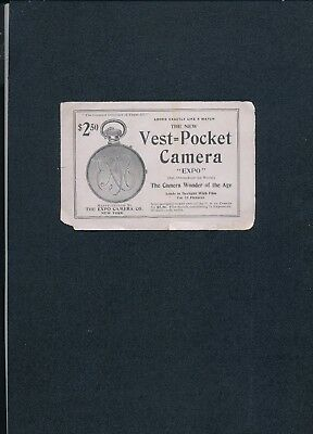 Expo vest-pocket camera  pamphlet