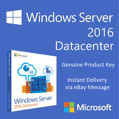 Microsoft Windows Server 2016 Datacenter Genuine Activation Key Win Product-Key