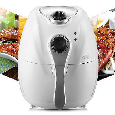 1300W 2.7L Electric No Oil Air Fryer Timer Temperature Control for Kitchen White