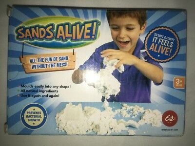 SANDS ALIVE LIKE KINETIC SAND OF CRAZSAND NO MESS SAFE KIDS GREAT TOY WHITE 453g